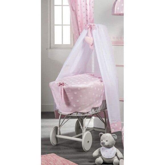 Μεγάλη Καλάθα με πέπλο Picci σχέδιο Amelie rosa στο Bebe Maison