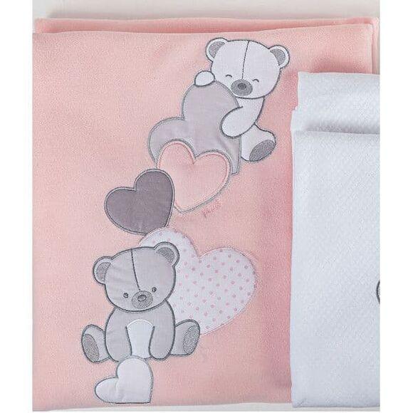 Κουβέρτα fleece κρεβατιού Picci Amelie rosa στο Bebe Maison