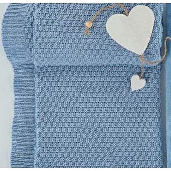 Κουβέρτα βαμβακερή Bamboo αγκαλιάς Picci Amelie cielo στο Bebe Maison