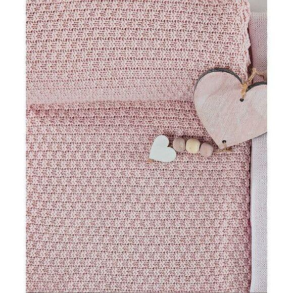 Κουβέρτα βαμβακερή Bamboo αγκαλιάς Picci Amelie rosa στο Bebe Maison