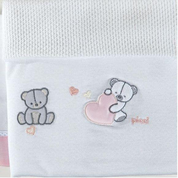 Κουβέρτα πικέ αγκαλιάς Picci Amelie rosa στο Bebe Maison