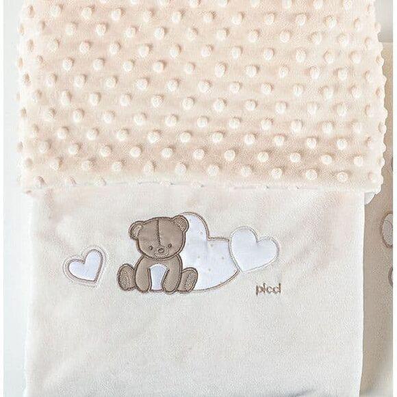 Κουβέρτα βελουτέ αγκαλιάς Picci Amelie panna στο Bebe Maison