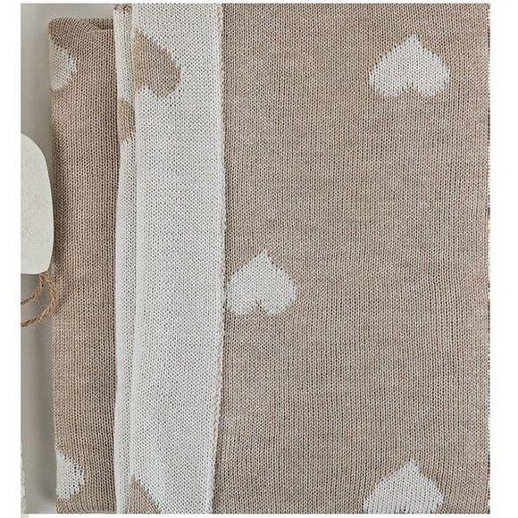 Κουβέρτα μάλλινη αγκαλιάς Picci Amelie panna στο Bebe Maison