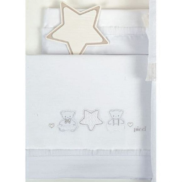 Σετ σεντόνια καλαθούνας-λίκνο Picci σχέδιο Nanny bianco στο Bebe Maison