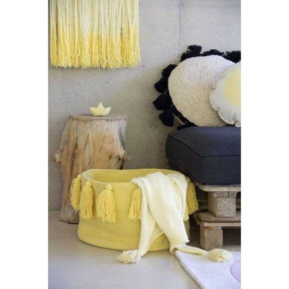 Lorena Canals καλάθι αποθήκευσης με κρόσια (κίτρινο) 30Χ45Χ45 στο Bebe Maison