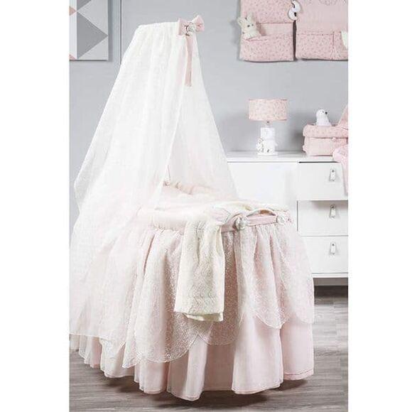 Μεγάλη Καλάθα με πέπλο και φούστα Picci από τη συλλεκτική σειρά Dili Best σχέδιο Astrid Pink στο Bebe Maison