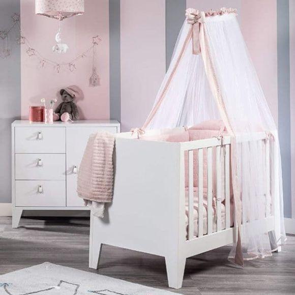 Ολοκληρωμένο βρεφικό δωμάτιο Picci από τη συλλεκτική σειρά Dili Best σχέδιο Astrid white/pink στο Bebe Maison