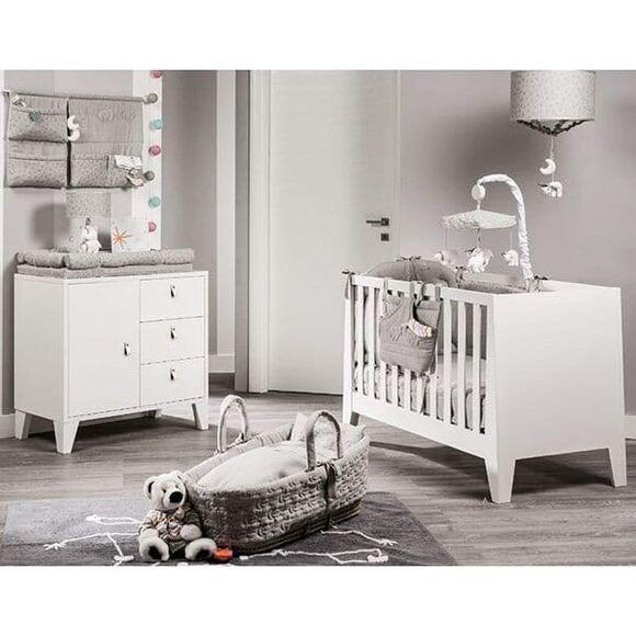 Ολοκληρωμένο βρεφικό δωμάτιο Picci από τη συλλεκτική σειρά Dili Best σχέδιο Astrid white/grey στο Bebe Maison