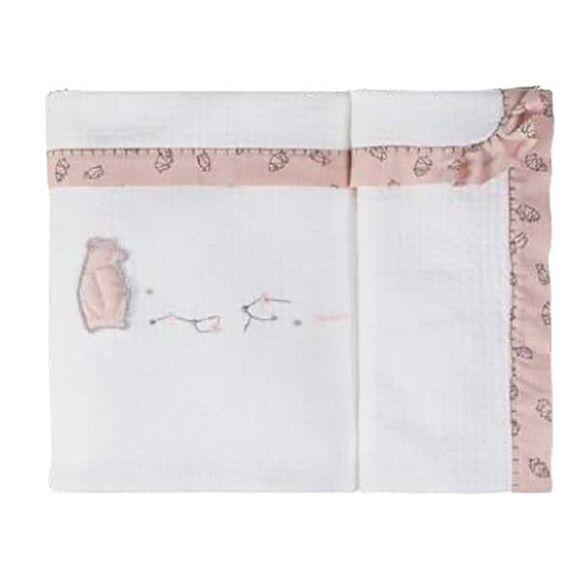 Κουβέρτα αγκαλιάς Picci mezzopeso από τη συλλεκτική σειρά Dili Best σχέδιο Astrid pink στο Bebe Maison