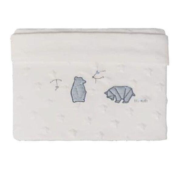 Κουβέρτα αγκαλιάς Minky Star double Picci από τη συλλεκτική σειρά Dili Best σχέδιο Astrid blue στο Bebe Maison