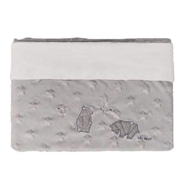 Κουβέρτα αγκαλιάς Minky Star double Picci από τη συλλεκτική σειρά Dili Best σχέδιο Astrid grey στο Bebe Maison
