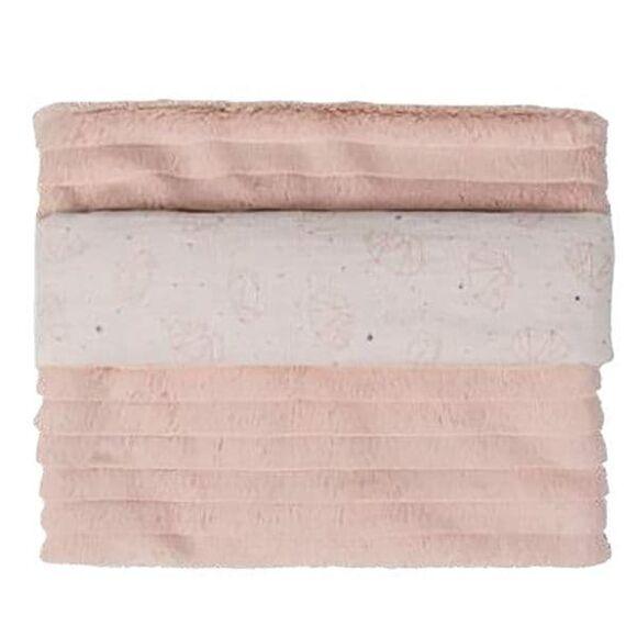 Κουβέρτα αγκαλιάς γουνάκι Picci από τη συλλεκτική σειρά Dili Best σχέδιο Astrid  pink στο Bebe Maison