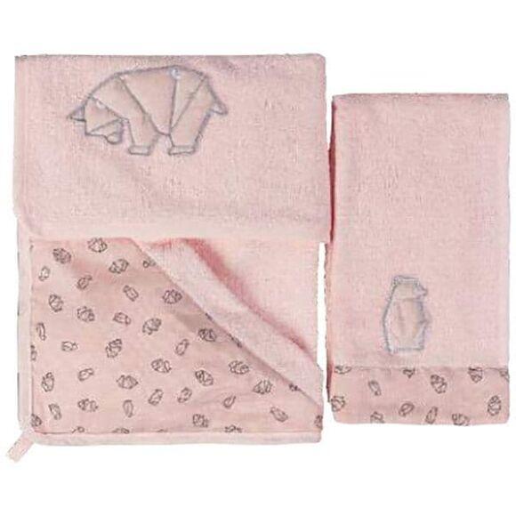 Σετ μπάνιου από bamboo Picci από τη συλλεκτική σειρά Dili Best σχέδιο Astrid pink στο Bebe Maison