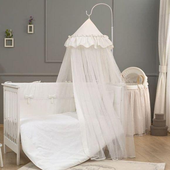 Κουνουπιέρα με θόλο Funna Baby σχέδιο Premium white στο Bebe Maison