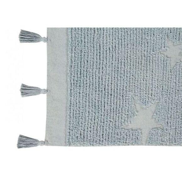 Παιδικό χαλί Lorena Canals Hippy Stars aqua blue C-ΗΙ-SΤ-ΑQUΑ 120x175 στο Bebe Maison