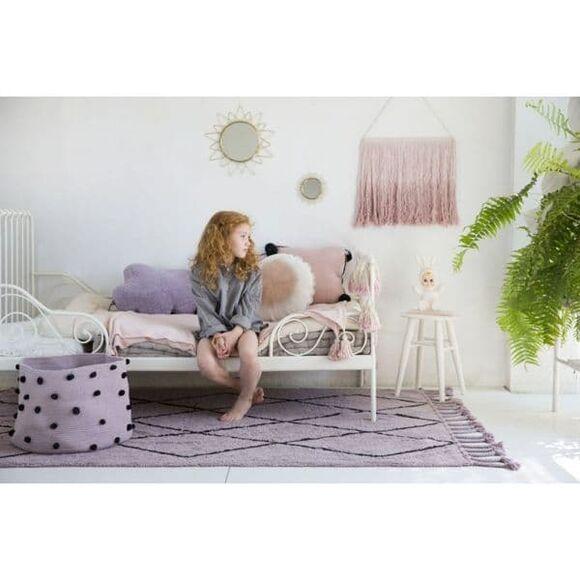 Lorena Canals καλάθι αποθήκευσης με ponpon wood απαλό ροζ 30x45x45 (ΒSΚ-ΡΕΒ-WΟΟD) στο Bebe Maison