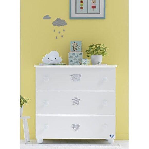 Συρταριέρα Pali Birillo χρώμα λευκό στο Bebe Maison