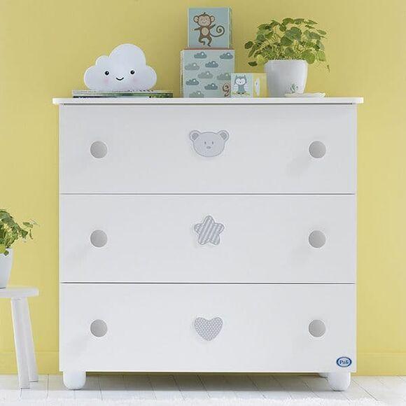 Συρταριέρα Pali Birillo χρώμα white/warm grey στο Bebe Maison