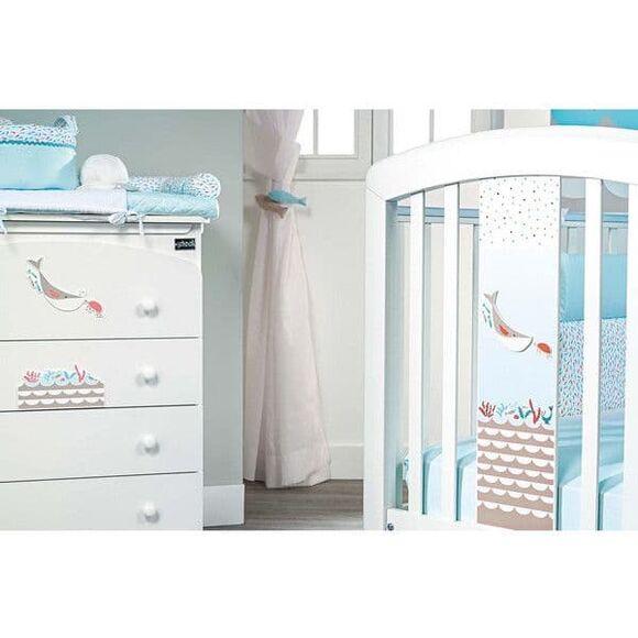 Βρεφικό κρεβάτι Picci σχέδιο Marlin Blue στο Bebe Maison