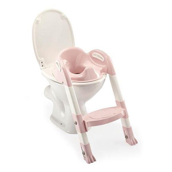 Στεφάνι WC με σκαλοπάτι Thermobaby Kiddyloo Toilet Trainer Powder Pink στο Bebe Maison