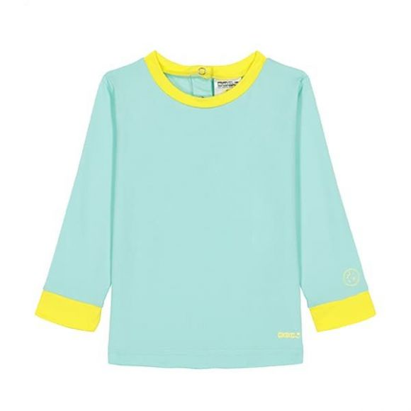 KiETLA Μπλούζα Pop με UV προστασία Γαλάζιo-Κίτρινο στο Bebe Maison