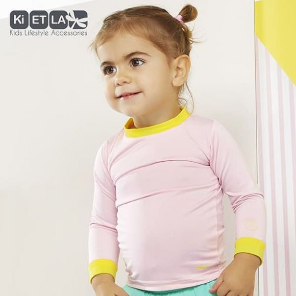 KiETLA Μπλούζα Pop με UV προστασία Ρόζ-Κίτρινο στο Bebe Maison