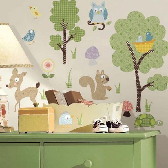 "Roommates Αυτοκόλλητα τοίχου ""Ζώα του δάσους"" στο Bebe Maison"