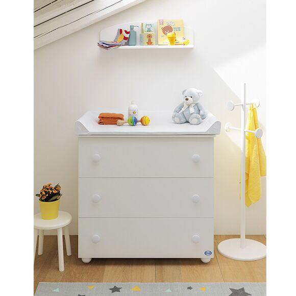 Ολοκληρωμένο βρεφικό δωμάτιο Pali Κρεβάτι Ciak και μεγάλη συρταριέρα χρώμα λευκό στο Bebe Maison