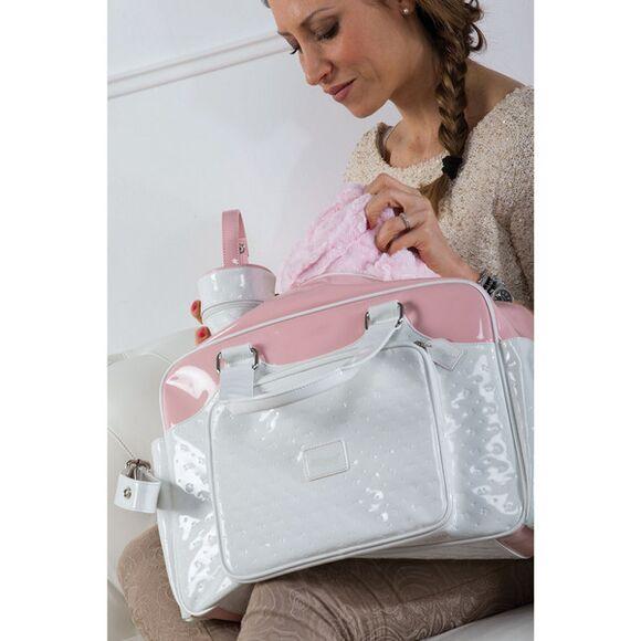 """Τσάντα αλλαξιέρα Picci από τη συλλεκτική σειρά Dili Best """"Candy white/pink"""" στο Bebe Maison"""