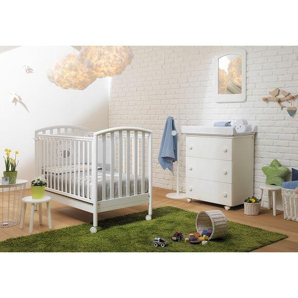 Ολοκληρωμένο βρεφικό δωμάτιο Pali Κρεβάτι Ciak και συρταριέρα bagnetto λευκό στο Bebe Maison